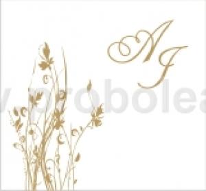 Προσκλητήριο περλέ χρυσό