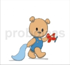 Προσκλητήριο αρκουδάκι αεροπλανάκι