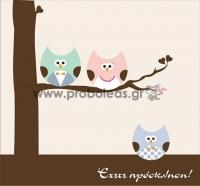 Προσκλητήριο κουκουβάγιες αγοράκι